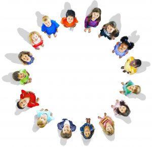 Diversity Innocence Children Friendship Aspiration Concept